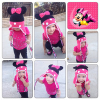 Minnie mouse crochet beanie
