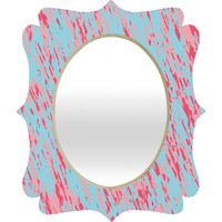 Rosie Brown Tickled Pink Quatrefoil Mirror