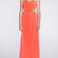 Sweetheart Strapless Dress with Side Embellishment