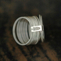 $96.00 10 Candy twists silver stacking rings by Minicyn on Etsy