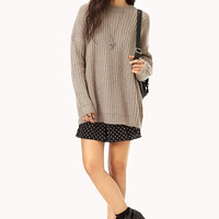 Mixed Knit Boyfriend Sweater