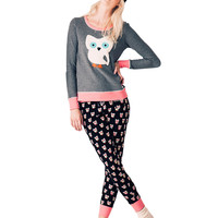 Kids' | Sleepwear & Sets | Always A Deer Long-Sleeve & Long Pants Pajama Set | Lord and Taylor