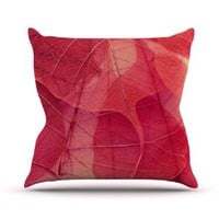 Kess InHouse Ingrid Beddoes Delicate Leaves Throw Pillow, 26 by 26-Inch