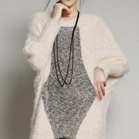 Loose High-low Furry Sweater
