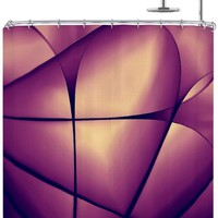 Kess InHouse Ingrid Beddoes Paper Heart Shower Curtain, 69 by 70-Inch