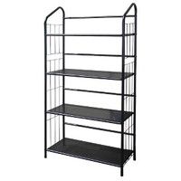 4 Tier Metal Book Shelves - Black