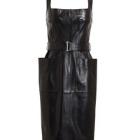 ALEXANDER MCQUEEN | Belted Leather Dress | Browns fashion & designer clothes & clothing