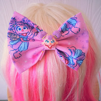 Hair bow / Abby Cadabby hair bow / Sesame street hair bow / sesame street / fabric bow / hair bow clip / cute hair bow / fabric bow clip