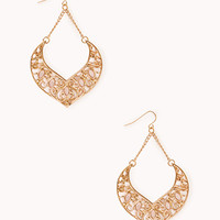 Opulent Cutout Drop Earrings