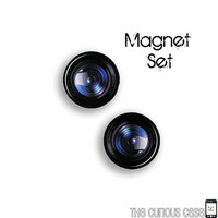 BLACK FRIDAY SALE - Camera Lens Magnet Set - Ready To Ship Stocking Stuffer 1.6 inch