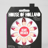 House Of Holland X Elegant Touch Heart Breaker Faux Nail Set - Urban Outfitters