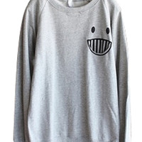 Smile Pocket French Terry Sweatershirt