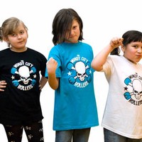 Windy City Rollers WCR Logo Youth Tee - Derby Blue Kids Clothing at Broken Cherry