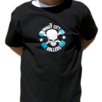 Windy City Rollers WCR Logo Toddler Tee - Black Kids Clothing at Broken Cherry
