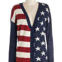 Old Glory Days Cardigan | Mod Retro Vintage Sweaters | ModCloth.com