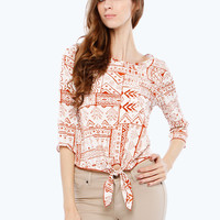 TRIBAL FRONT TIE TOP
