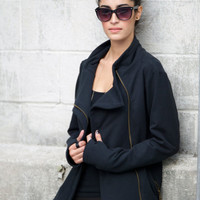 Black Friday Sale 20% Off Biker Jacket / High Collar Coat Blazer / Grunge Meets Minimalism - Model 20-3