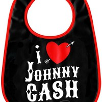 Sourpuss I Heart Johnny Cash Bib Kids Accessories at Broken Cherry