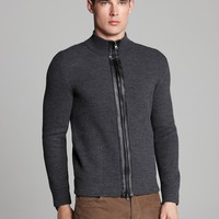 Vince Rib Mock Neck Sweater