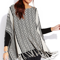 Geo Girl Poncho Top