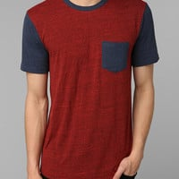 BDG Triblend Colorblock Pocket Tee - Urban Outfitters