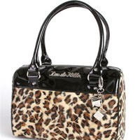Lux de Ville Mini Atomic Tote Black and Leopard Accessories Purses at Broken Cherry