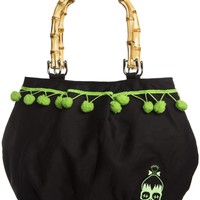 Sourpuss Voodoo Pom Pom Purse Accessories Purses at Broken Cherry