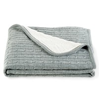 Cable-Knit Throw Blanket -
