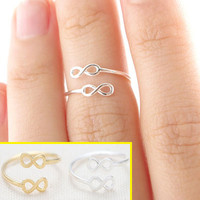 Gold&Silver Infinite Cuff Rings (Set of Gold +Silver)
