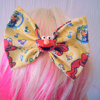 Elmo hair bow / Sesame street hair bow / Elmo / Hair bow / Elmos world / fabric bow / Girls hair bow / sesame street / elmo hair clip
