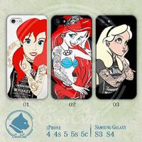 iPhone Cases, iPhone 5 Case, iPhone 5s Case, iPhone 5c Case, iPhone 4 Case, iPhone 4s case, Tattooed Disney Princess, Case for iphone