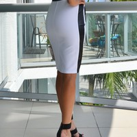 Kaila White Pencil Skirt