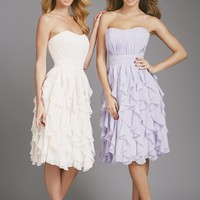 Ruffled Chiffon Dress by Allure Bridesmaids