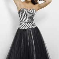 Black and White Gown by Blush by Alexia