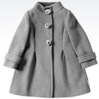 Single Breasted Coat Armani Junior - SINGLE BREASTED COAT Armani Junior Official Online Store
