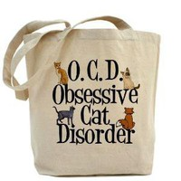 Obsessive Cat Disorder Tote Bag - CafePress Australia