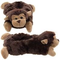 Wishpets Brown Monkey Animal Slippers