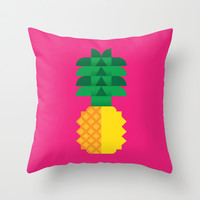 Fruit: Pineapple Throw Pillow by Christopher Dina