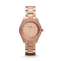 Stella Mini Three Hand Stainless Steel Watch - Rose