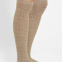 Cozy Cross-Stitch Knee-High Sock - Urban Outfitters