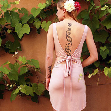 Black Friday Cyber Monday SALE Open Back Fairy Dress, Backless pink dress, Convertible Goddess Dress