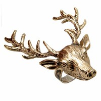 Wildfox Couture Jewelry Deer Ring in Gold