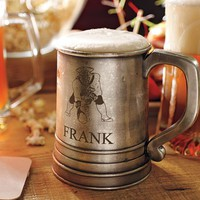 VINTAGE NFL ANTIQUE-SILVER BEER STEIN