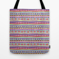 Stripey-Coolio Colors Tote Bag by Groovity