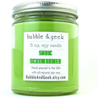 Sonic Screwdriver Scented Soy Candle - 8 oz. jar - Doctor Who - geek candle