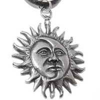 Sun and Moon Pagan Pendant / Necklace