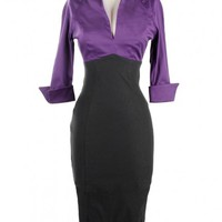 Lauren Dress in Purple and Black