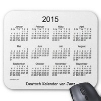 2015 Deutsch Kalender Mouse Pad
