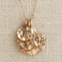 Personalized Bronze Molten Coin Necklace