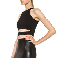 Ponti Crop Top in Black